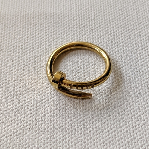 Jewelry - Brass wrapped nail ring